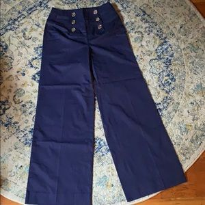 RL High Waisted Navy Pants